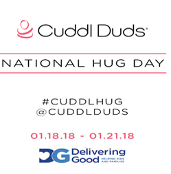 National Hug Day with Cuddl Duds:We need Your Hugs