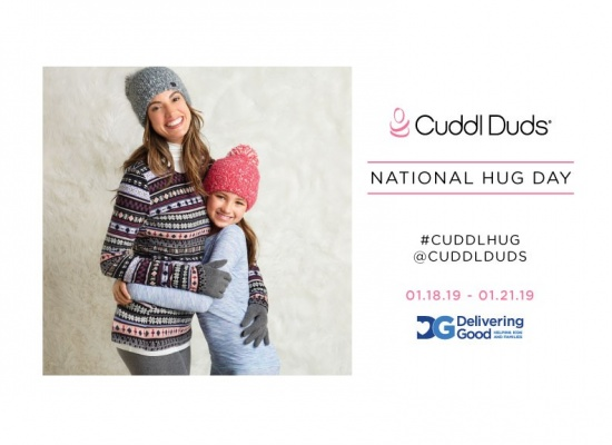 Cuddl Duds Partners With Delivering Good For 5th Annual National Hug Day Campaign