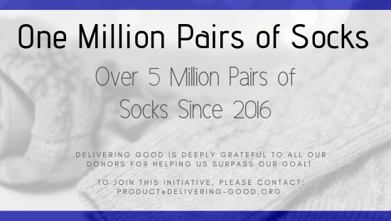 Delivering Good Collects Over 5 Million Pairs of Socks since 2016